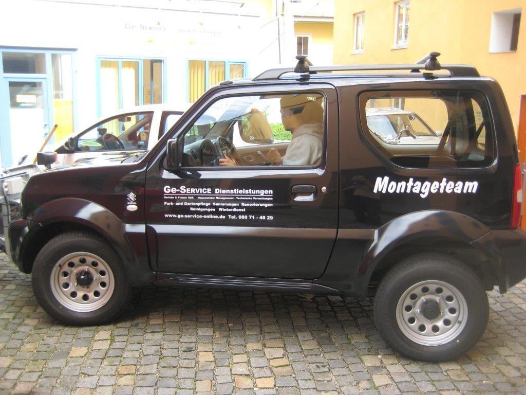 Jeep für Montageteam - Ge-Service