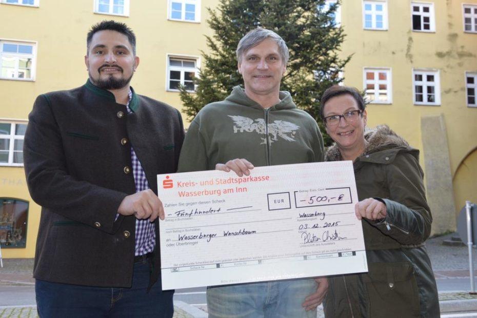 Spende 2015 - Wasserburger Wunschbaum